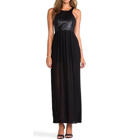 Blaque Label Dresses & Skirts - Leather detail tank maxi dress by Blaque Label